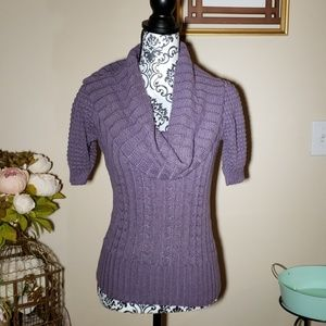 PattyBoutik size S purple cowl neck sweater SS